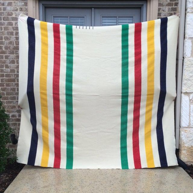 Vintage Hudson Bay Point Blanket - Image 3 of 9