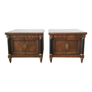 1960s Mid-Century Modern Wooden Nightstands - a Pair For Sale