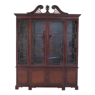 Kindel Oxford Mahogany 4 Door Breakfront China Cabinet