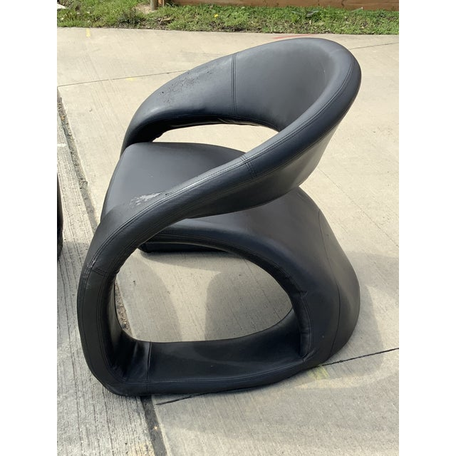 1990s Vintage Sculptural Sinuous Cantilever Chairs - A Pair For Sale In Dallas - Image 6 of 10