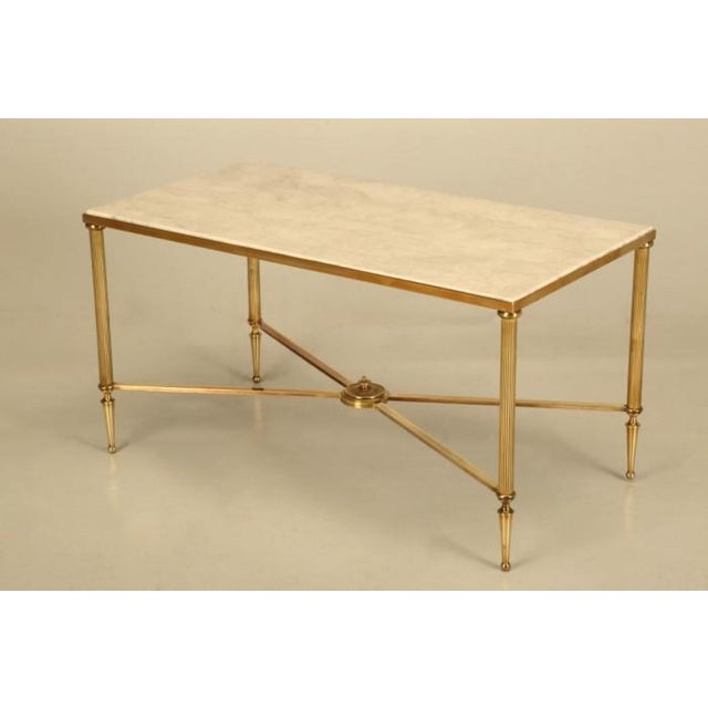 Brass French Mid-Century Modern Brass Coffee Table For Sale - Image 7 of 10
