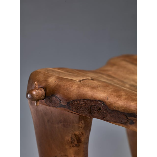 Wood Don Shoemaker Studio Craft Wooden Chair, Mexico, 1960s For Sale - Image 7 of 8