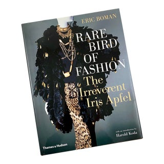 Rare Bird of Fashion the Irreverent Iris Apfel Book, Dust Jacket 2010 Uk Edition For Sale