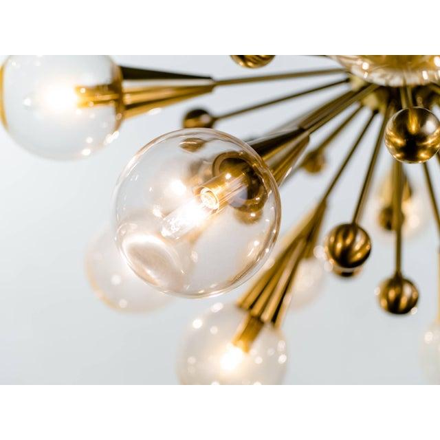 Gold Sputnik Chandelier For Sale - Image 8 of 11