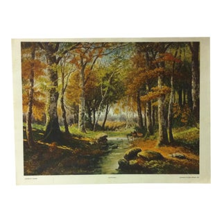 "Vintage Color Print on Paper, ""Autumn"" by P. Bucken - 1926 For Sale"
