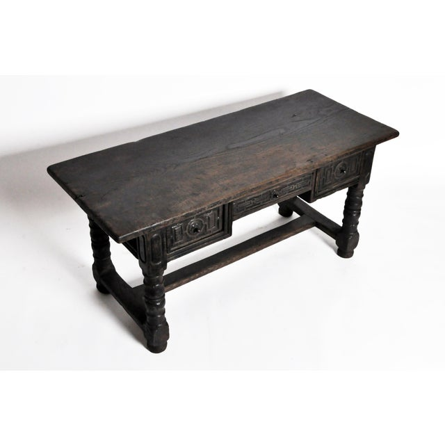 17th Century Desk With Three Drawers From Pyrenees Region For Sale - Image 5 of 13
