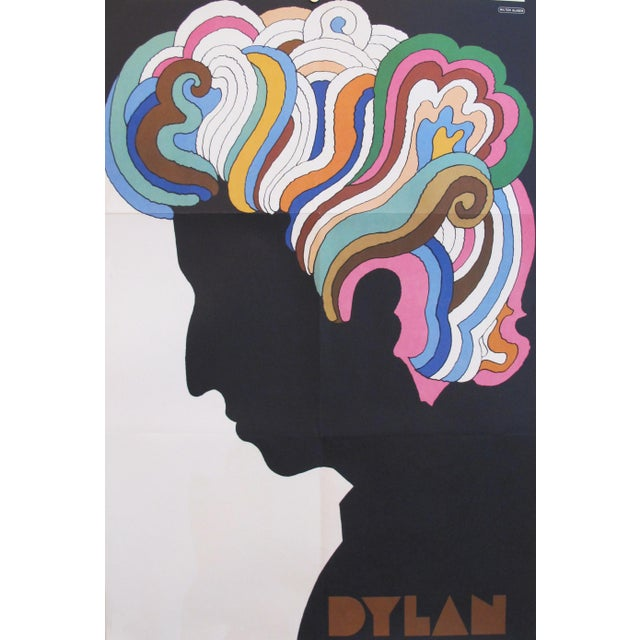 1966 Original Bob Dylan Silhouette Poster by Milton Glaser For Sale - Image 5 of 5