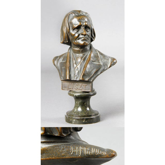 Late 19th Century Interesting Collection of Ten Busts of Composers For Sale - Image 5 of 11