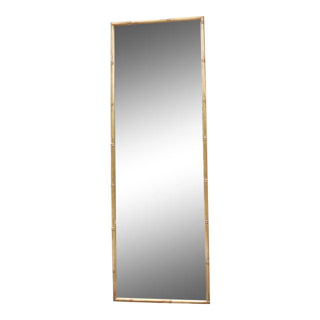 Vintage Gilt Faux Bamboo Rectangular Mirror - Image 1 of 7