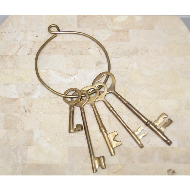Vintage Ring of Brass Jailhouse Style Keys - Image 2 of 7