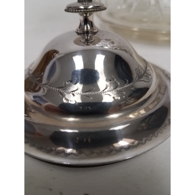 English Antique English Crystal Glass Biscuit Jar For Sale - Image 3 of 6