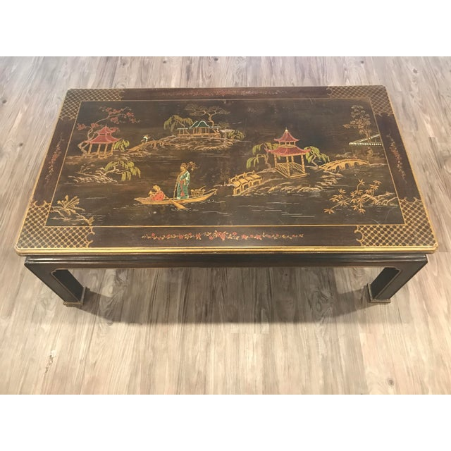 Henredon Asian Chinoiserie Inlaid Coffee Table - Image 2 of 5