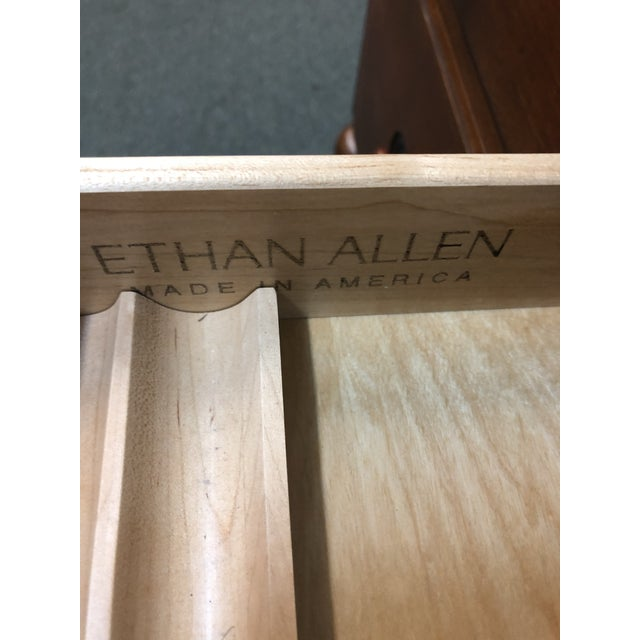 Traditional Ethan Allen Cherry Executive Desk For Sale - Image 3 of 10