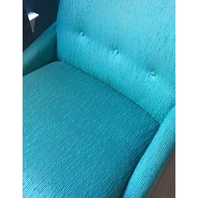 Teal Kroehler Slipper Chair - Image 4 of 8