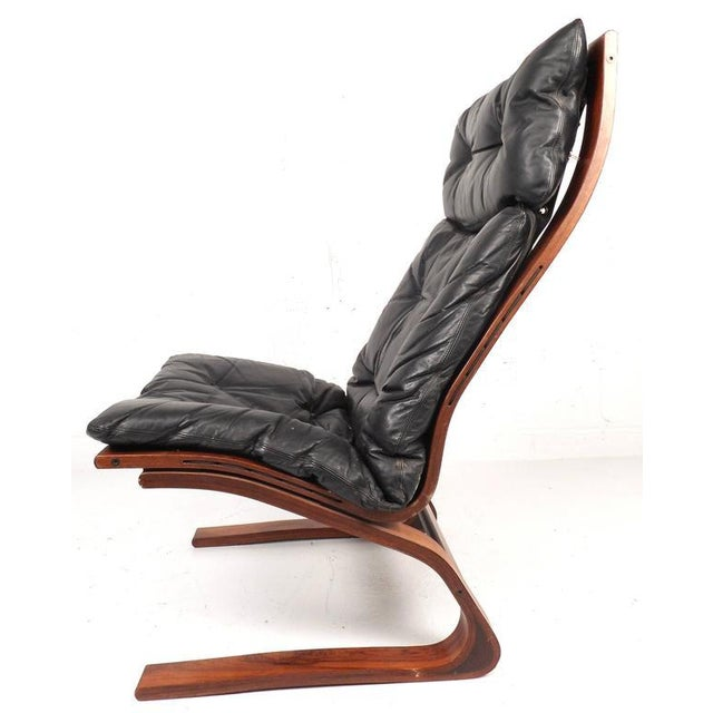 Mid-Century Modern Ingmar Relling Mid-Century Leather Lounge Chair & Ottoman For Sale - Image 3 of 8