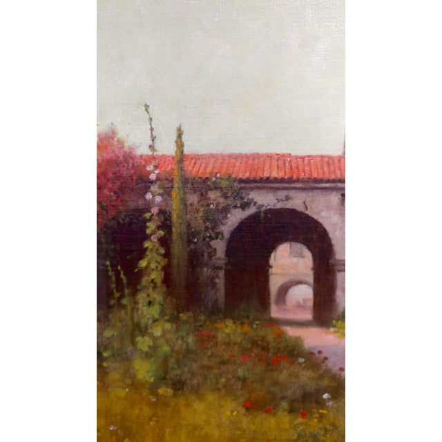 William Barr -Mission Capistrano c1920s -Impressionist California Oil painting For Sale - Image 5 of 10