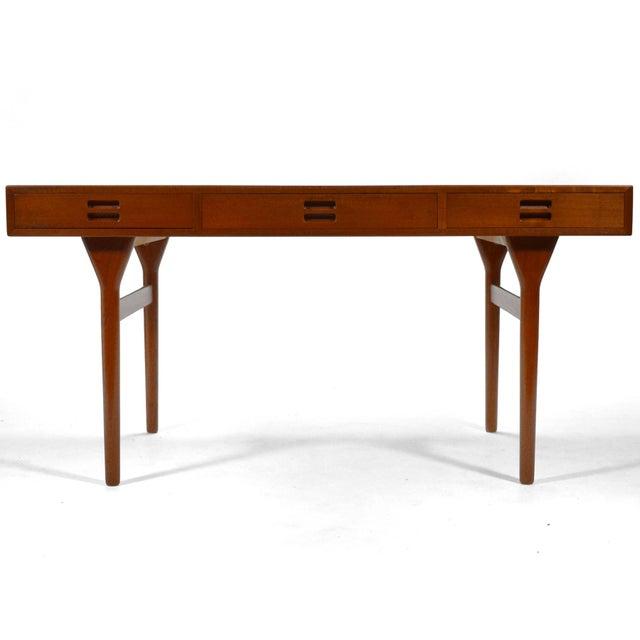 Nanna Ditzel & Jørgen Ditzel Three-Drawer Teak Desk For Sale - Image 10 of 10