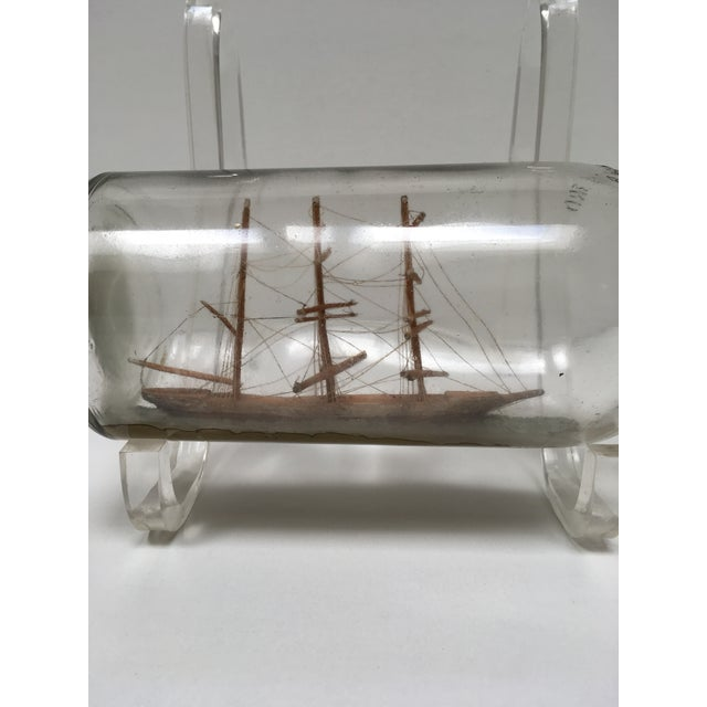 Nautical Vintage Ship in a Bottle For Sale - Image 3 of 6