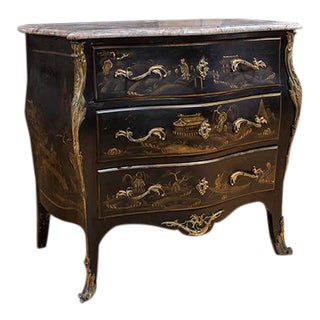 Venetian Rococo Style Bombe Commode For Sale