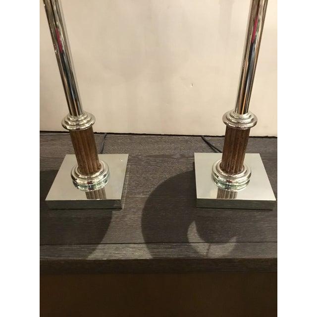 Classical Vintage Industrial Metal Bloomingdale's Table Lamps Pair For Sale In Atlanta - Image 6 of 9