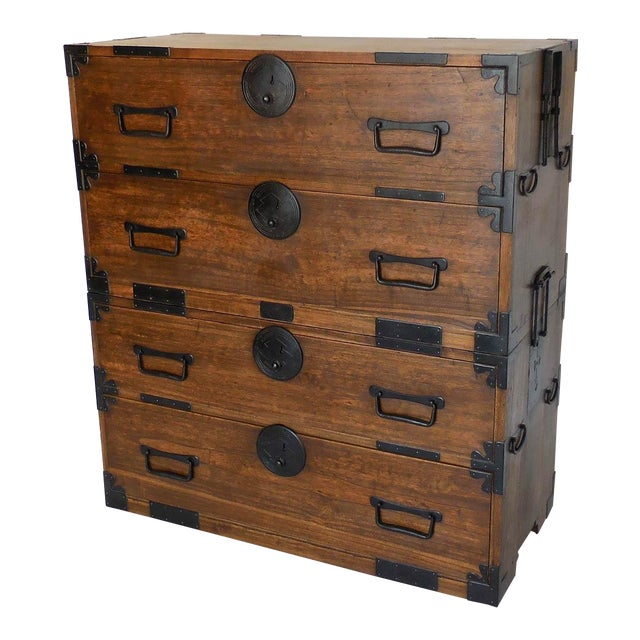 19th Century Japanese Shop Tansu, Chest of Drawers For Sale