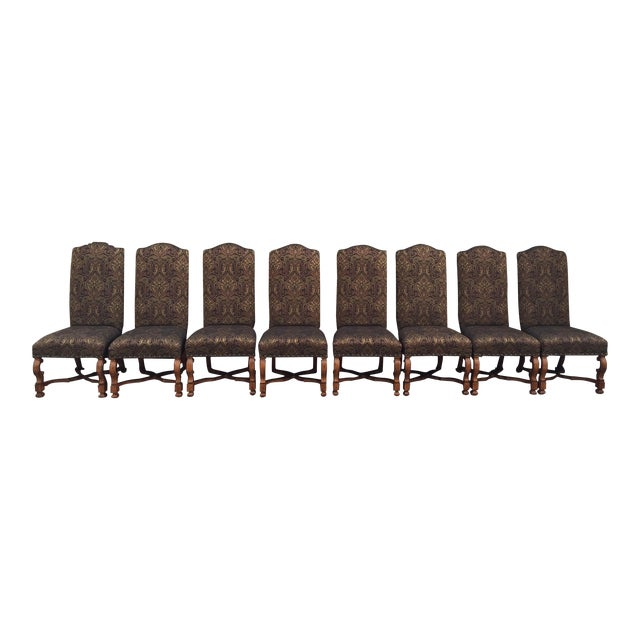 Stanley Upholstered Dining Chairs - Set of 8 - Image 1 of 6