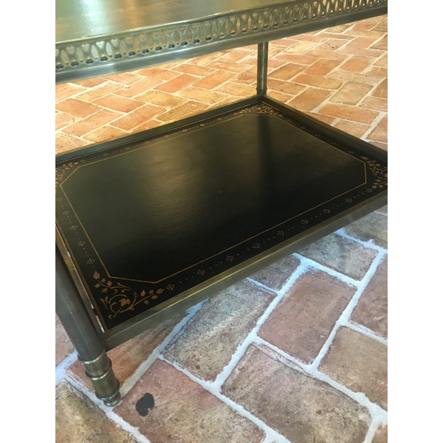 Chinoiserie Oval Metal Cocktail Table For Sale - Image 4 of 12