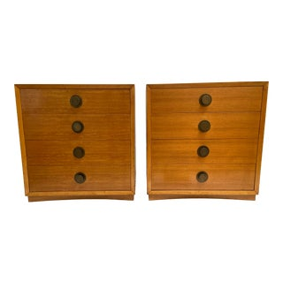 Vintage Mid-Century Four Drawer Chests - a Pair For Sale