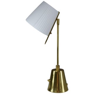 Evolution-II Contemporary Brass Table Lamp, Flow Collection For Sale
