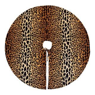 """Sale! Custom Large 55"""" Leopard Velvet Christmas Tree Skirt For Sale"""