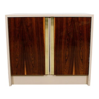 Milo Baughman Bar / Media Cabinet With Rosewood Doors For Sale
