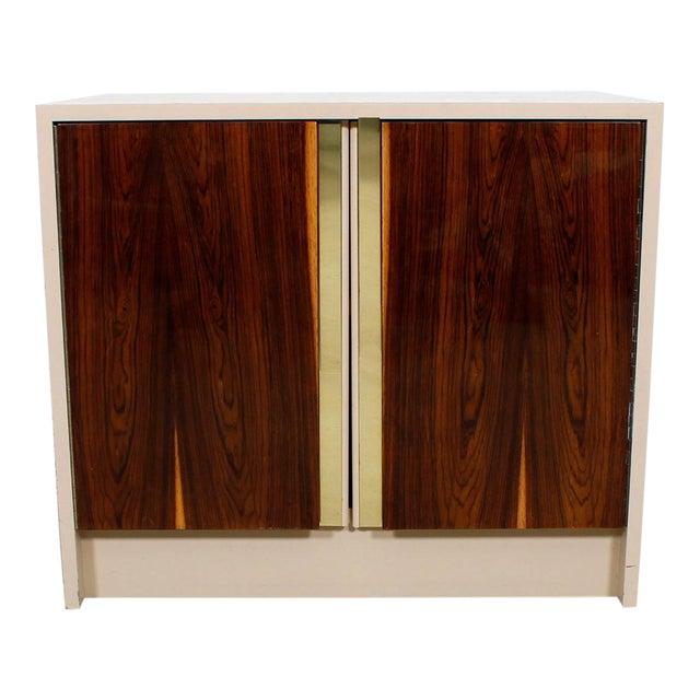 Milo Baughman Bar / Media Cabinet With Rosewood Doors For Sale