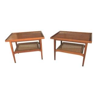 Mid-Century Modern Kipp Stewart for Drexel Declaration Side Tables - a Pair For Sale