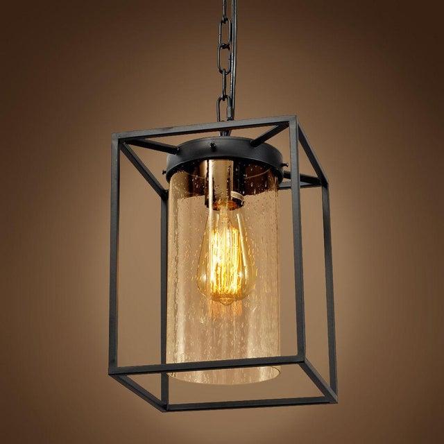 Vintage Style Iron Glass Pendant Light - Image 2 of 4