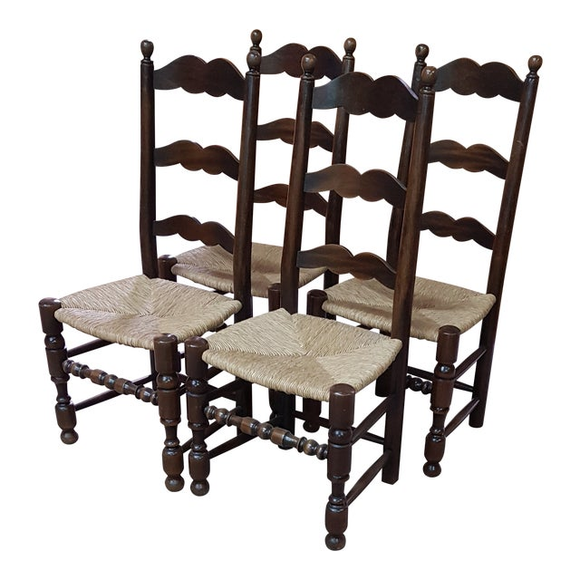 1900s Vintage Provencal Dining Chairs- Set of 4 For Sale