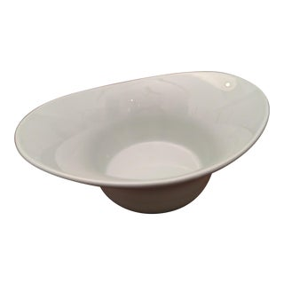 Modern Space Age Secla of Portugal Deep Serving Bowl For Sale