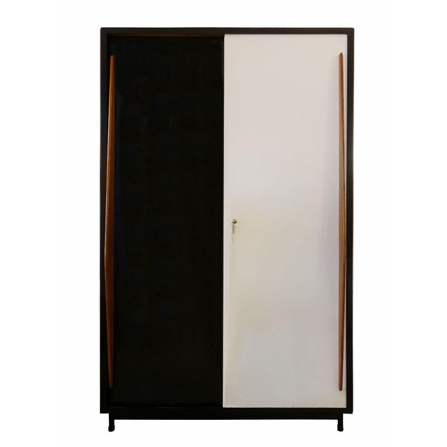 Black Large Cabinet by Willy Van Der Meeren for Tubax, 1950's Italy - Completely Restored For Sale - Image 8 of 8