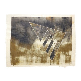 Black and Gold Mono Print by Martha Holden For Sale