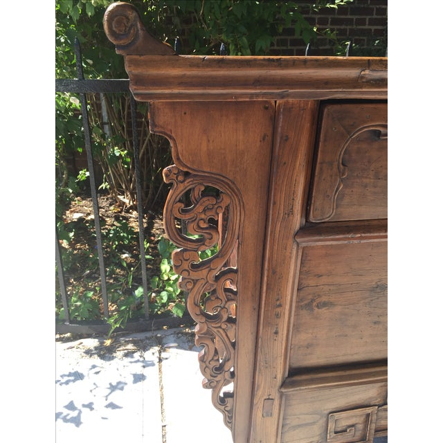 Antique Carved Wood Console - Image 9 of 10