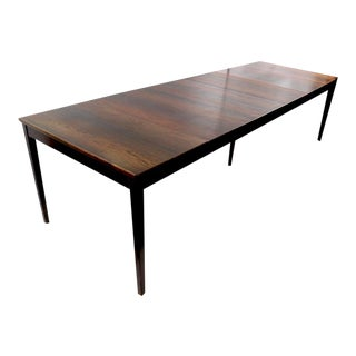 Danish Modern Extension Dining Table in Rosewood For Sale