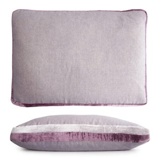 Wisteria Double Tuxedo Lumbar Pillow For Sale