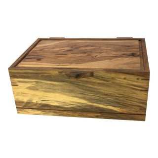 Handmade Maple Wooden Box #1036 For Sale