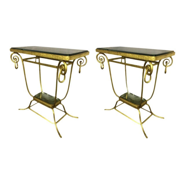 Sue Et Mare Refined Pair of 2 Tier Console For Sale