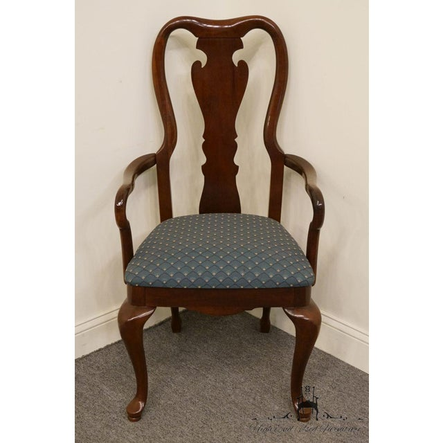 Thomasville Late 20th Century Vintage Thomasville Furniture Collectors Cherry Arm Chair For Sale - Image 4 of 13