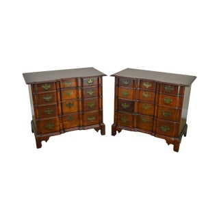 """Century Chippendale Style Pair of Mahogany Block Front Chest """"The Henry Ford Museum"""" For Sale"""