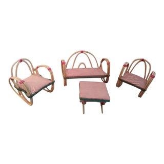 Mid-Century Pretzel Dollhouse Furniture - Set of 4