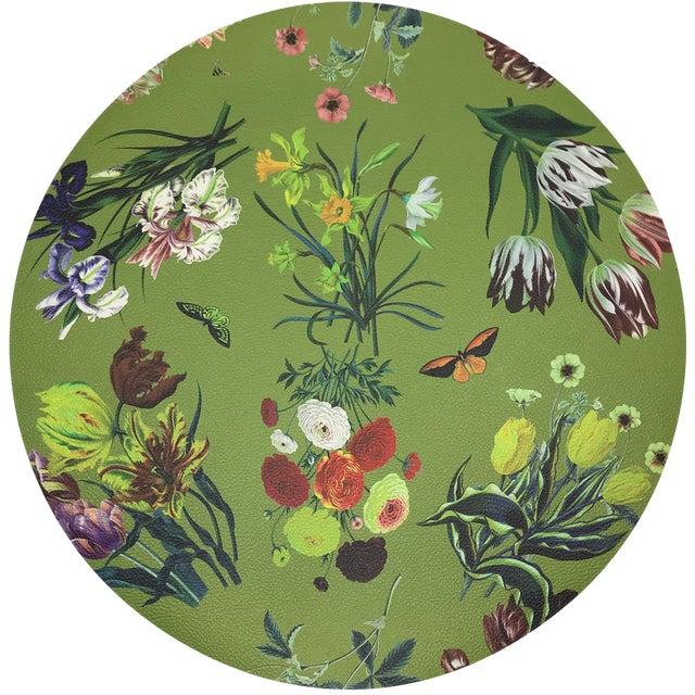 "Nicolette Mayer Flora Fauna Fontana 16"" Round Pebble Placemat For Sale"