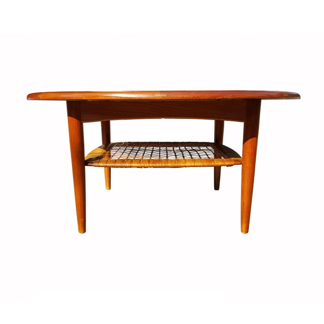 Johannes Andersen Danish Mid-Century Modern Teak Coffee Table - Image 2 of 4