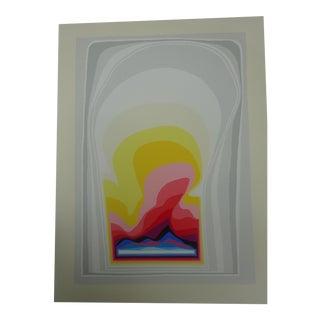"Arthur Secunda ""Space Curtains"" Abstract Pop Modern Print For Sale"