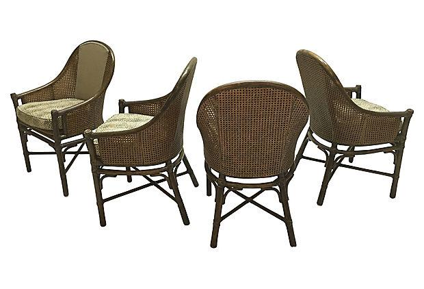 Vintage McGuire Bamboo Dining Chairs   Set Of 4   Image 2 Of 5